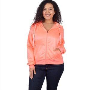 Tops - Coral Orange Hoodie Plus Size 1X